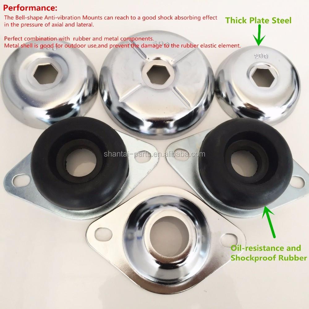 Feet pad damper engine generator rubber mount anti for Vibration dampening motor mounts