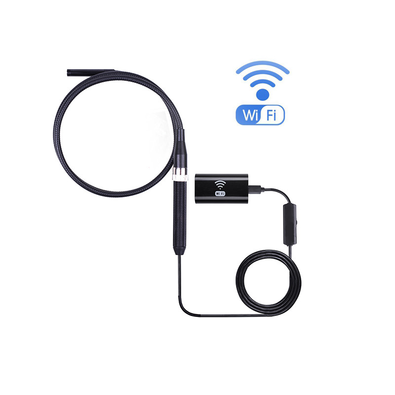 8mm Wifi Endoscope Camera 1M WaterProof Borescope Inspection Flexible Camera For Iphone Android Mini Camera