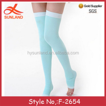 2c123b690d F-2654 OEM china factory wholesale women sleep socks anti embolism stockings  fashion compression socks
