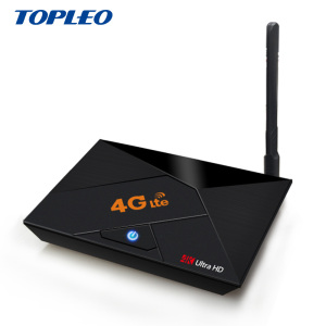 Hot Design 4G sim card global antenna media player full hd 1080p video android7.1 tv box V4G
