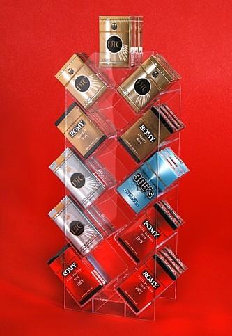 Clear Acrylic Cigarette Display Unit