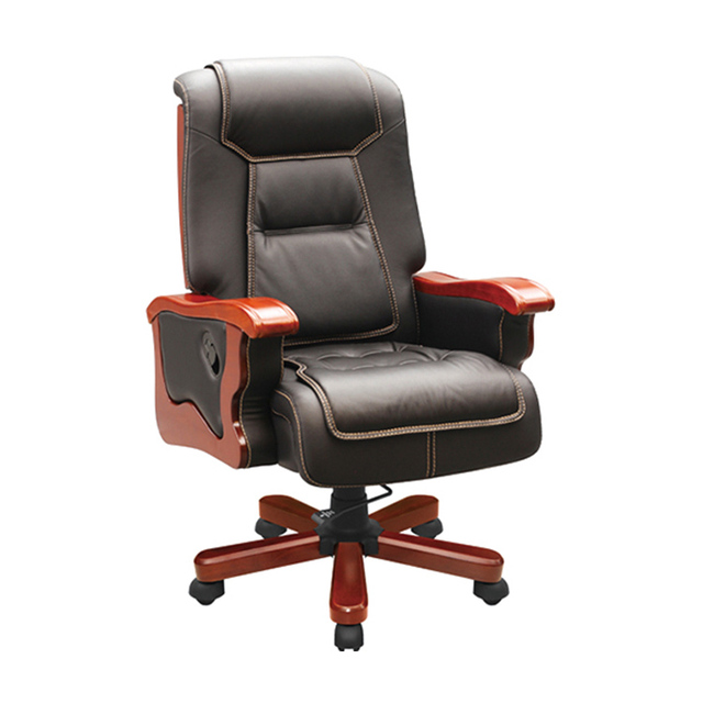 New Design Comfortable Modern Green Leather Office Chairs