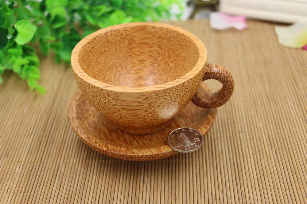 SPIE Coconut Wood Bowl Tableware Dinnerware Sets Spoon Chopsticks Bowl Adult Dinner Service No Paint No Wax