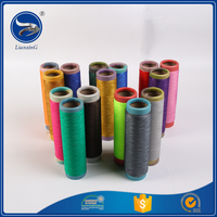 Brand new factory colored&OEM polyester flat yarn
