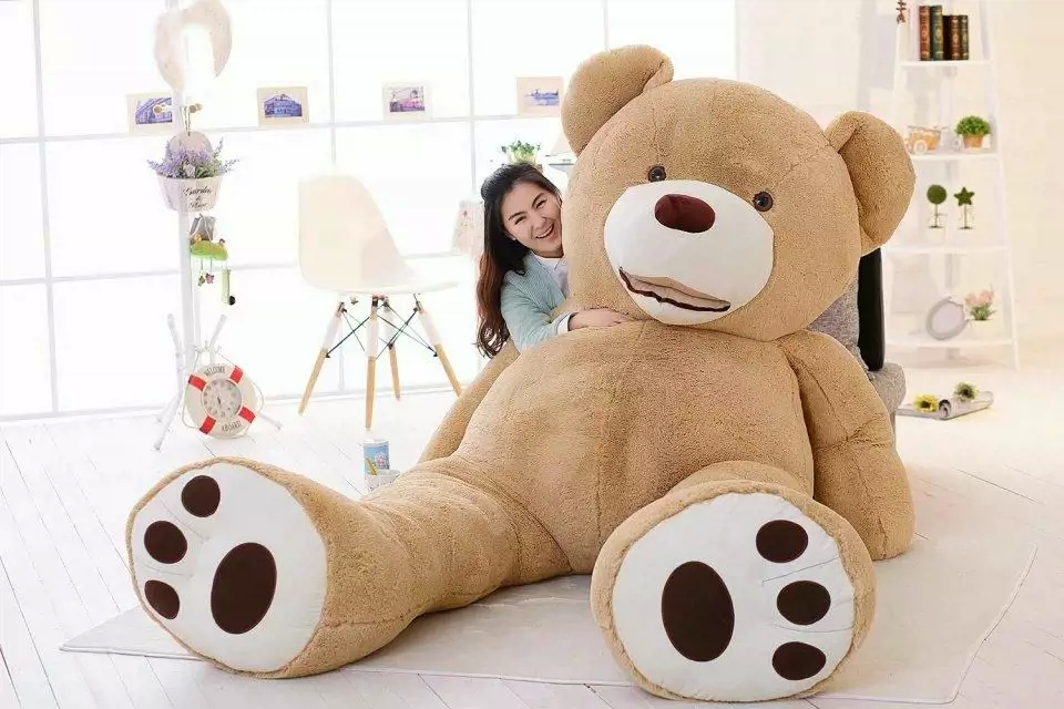 China Factory wholesale huge organic plush toys fat big giant teddy bear 200cm 300cm customized
