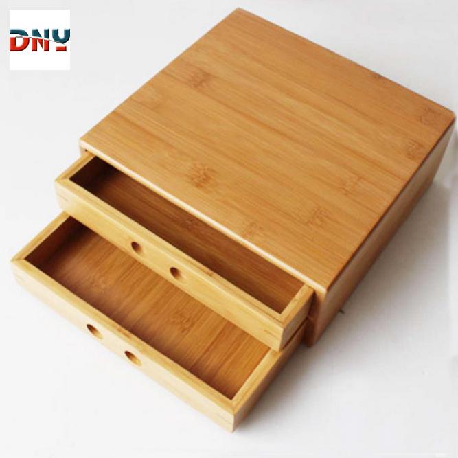Caja de pa/ñuelos de madera de bamb/ú cubierta de caja de pa/ñuelos ecol/ógica decoraci/ón porta servilletas de madera caja de pa/ñuelos caja de pa/ñuelos oficina en el hogar hotel contenedor contenedor