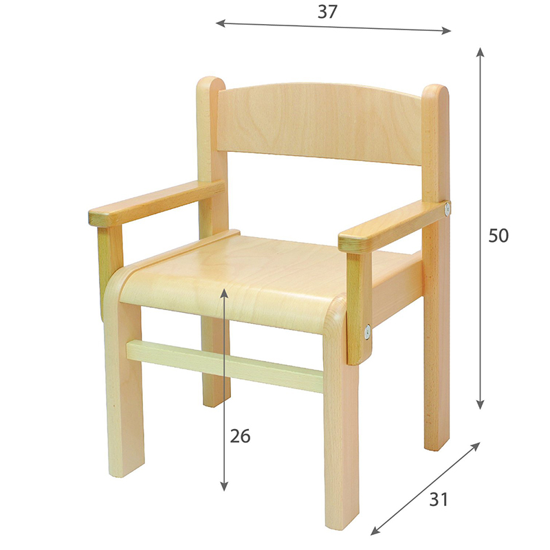 ni os muebles de madera de haya maciza silla de ni o de