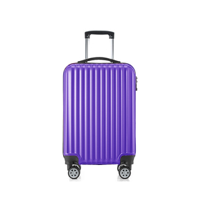 classic purple elegant rolling trolley suitcase luggage for traveling
