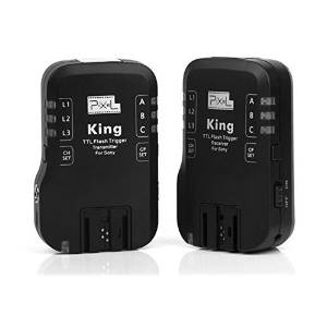 Wireless TTL Flash Trigger Set for Sony Camera Remote Control Transceivers Receiver pixel king for Sony FSK 2.4GHz