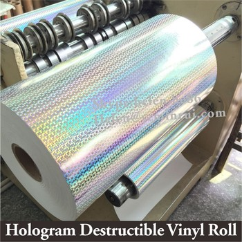 3d Unique Hologram Ultra Destructible Vinyl Roll Self