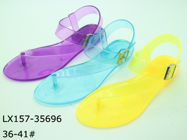 Clean crystal shoes women jelly sandals