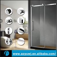 Canada Sliding Shower Glass Door Double Runner Hardware Wheels