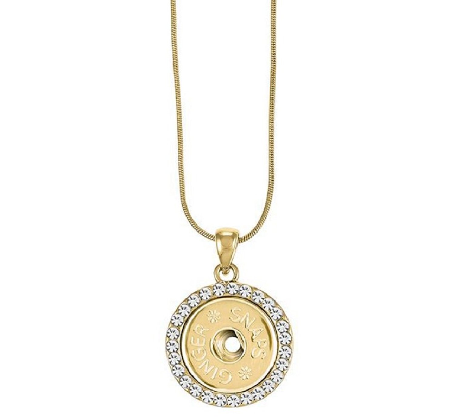 Ginger Snaps (Simulated) Gold Bling Necklace SN95-70 (Standard Size) Interchangeable Jewelry Accessory