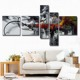 MYT Modern Home Decor Wall Art 5 Pieces 1 Set Picture Abstract Canvas Painting