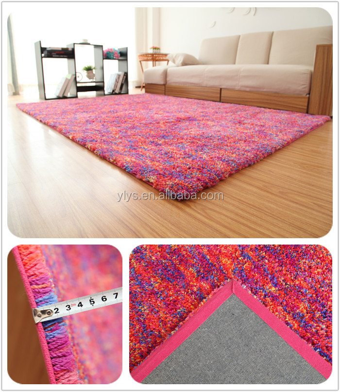 2015 High Quality Philippines Pure Silk 100% Polyester Shaggy Carpet