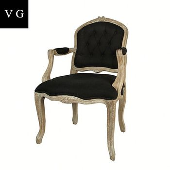 French Country Style Antique Hand Carved Rattan Back Black Dining Chair Vintage Louis Xv Bistro