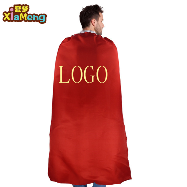 2018 neue design single-layer lace-up kids adult superhero capes für kinder