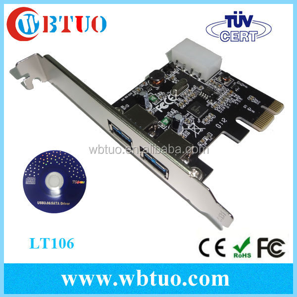 2 port usb3.0 external pcie card adapter usb to pcie converter