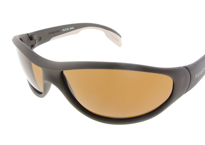 7c039a99de Get Quotations · Vuarnet Sunglasses VL 0109 0003 2121 Matte Black   White  with Brown PX 2000 Lenses