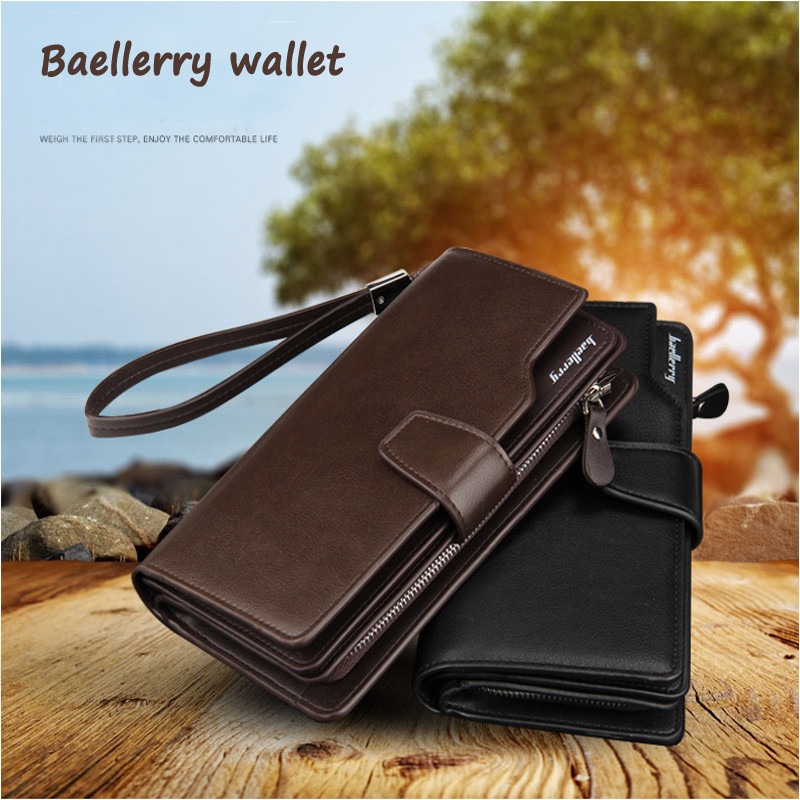 2017 original baellerry man long <strong>wallet</strong> high quality High capacity men's credit card bag new branded hand bags for men