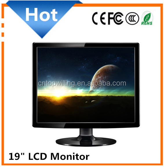 Hot Sale!! Square Panel 19 Inch lcd Monitor with RCA/TV/VGA/USB inputs