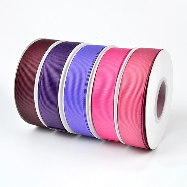 Custom colourful double sided 100% polyester satin ribbon manufacturer