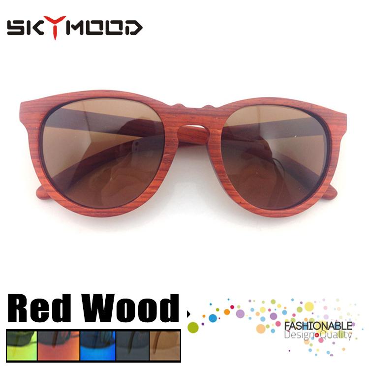 Rojo ojo de gato anteojos Marco Polarizadas para las mujeres Bambu ...