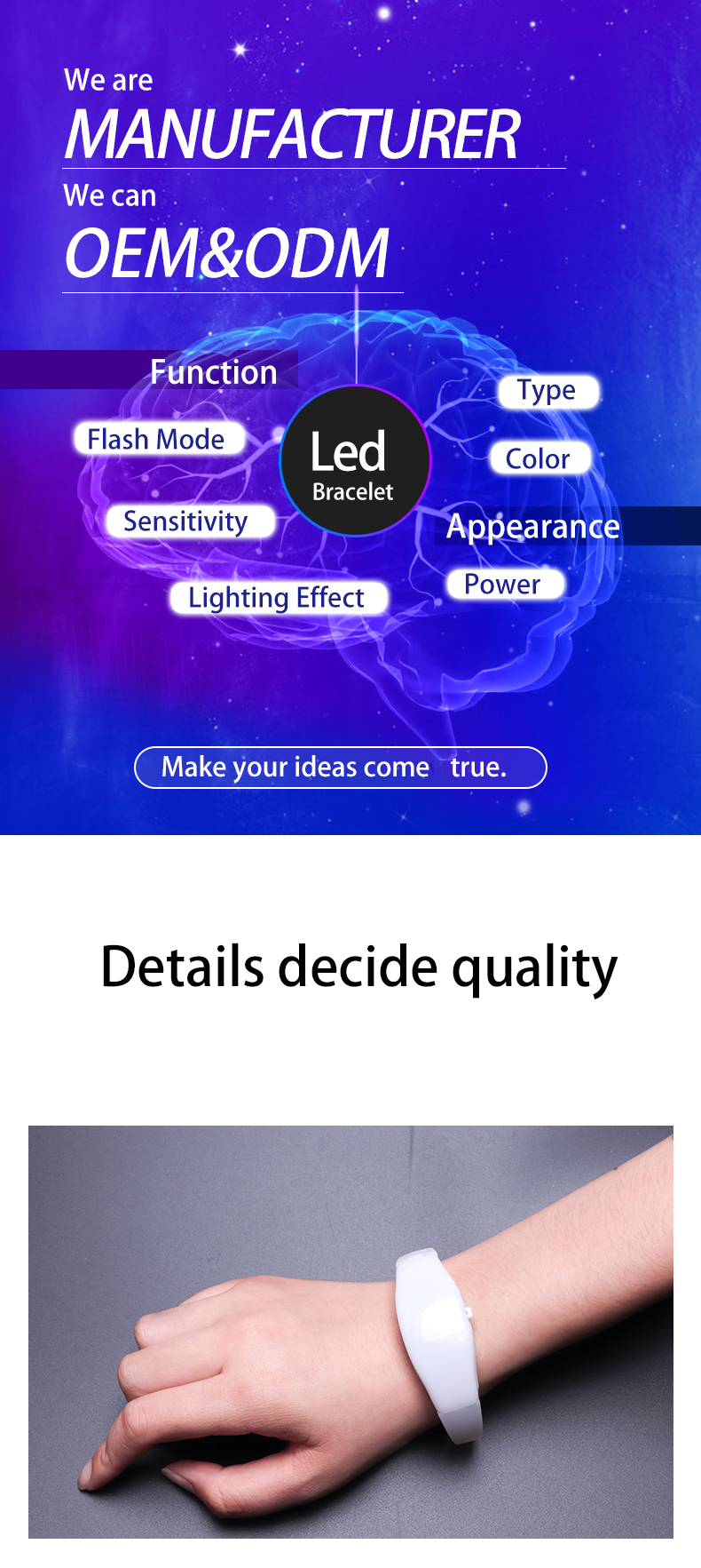 004 New Products Custom Programmable Remote Controlled Flashing Led Flashers Silicone Bracelet Radio Control Rfid Light