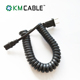 7 pin straight coil with two n type plastic trailer plug