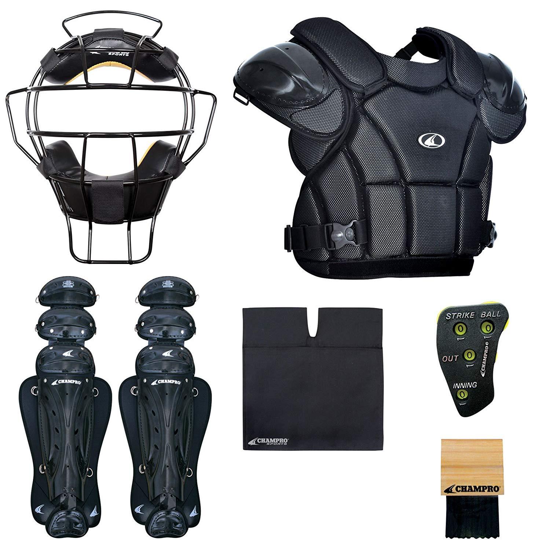 b7df993a538c Get Quotations · CHAMPRO Sports Varsity Umpire KIT-Black Black