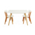 Luxury modern kitchen  dining room classic wood furniture dinning table chairs set