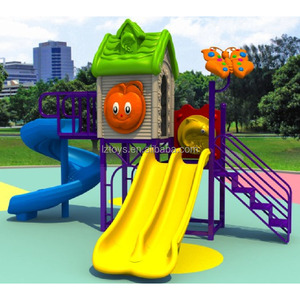 plastic play house /outdoor playground slide equipment
