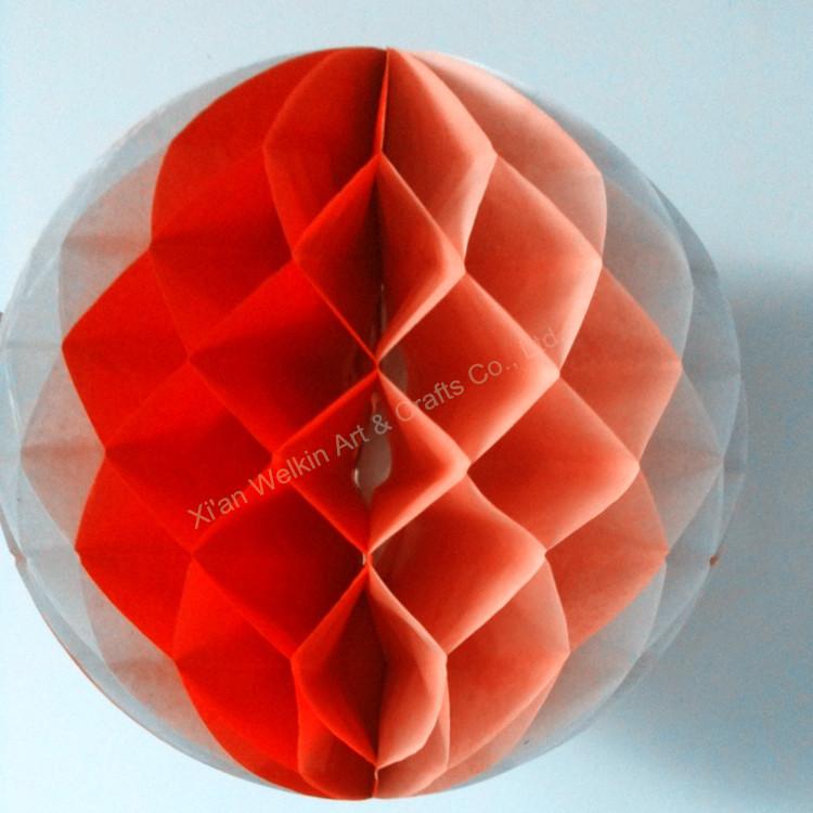 Honeycomb Crepe Paper Christmas Decorations