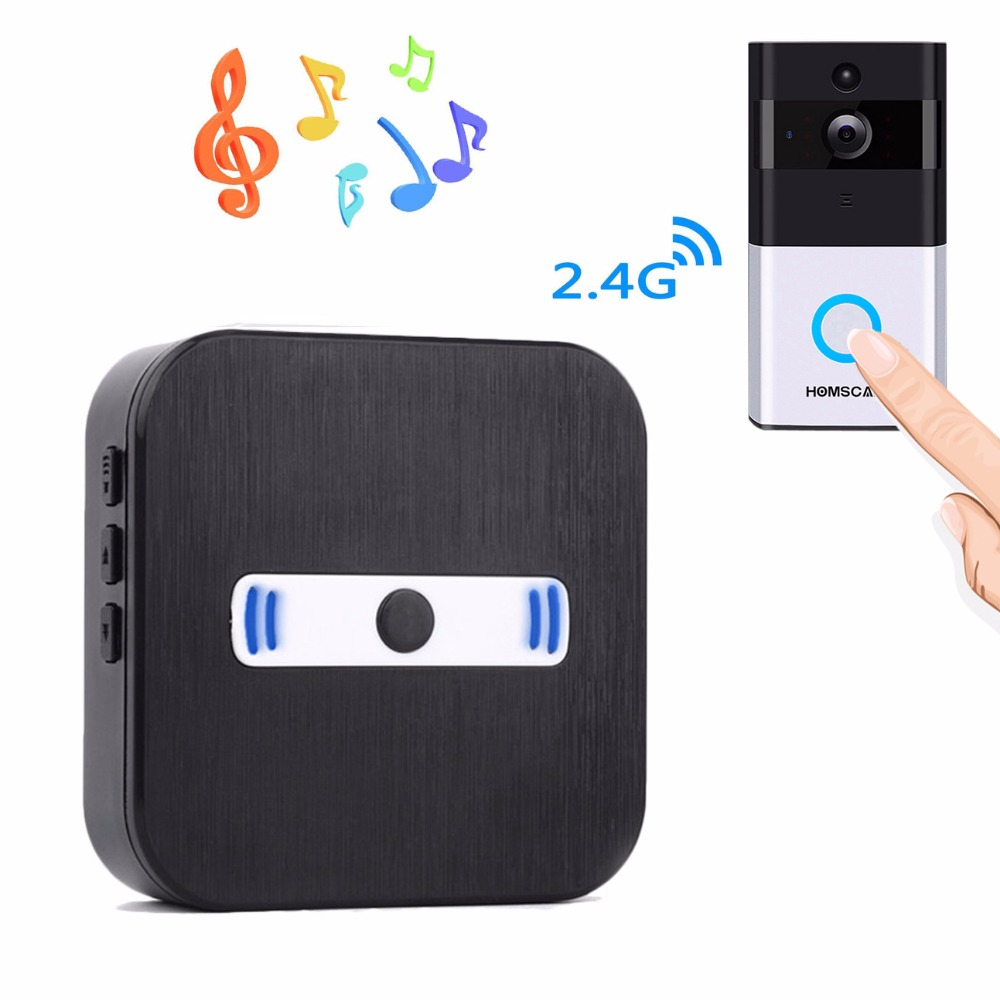 HOMSCAM Alarm Entry Door Bell Video Wireless Doorbell Chime Ring Doorbell Chime battery wireless doorbells cordless door chime
