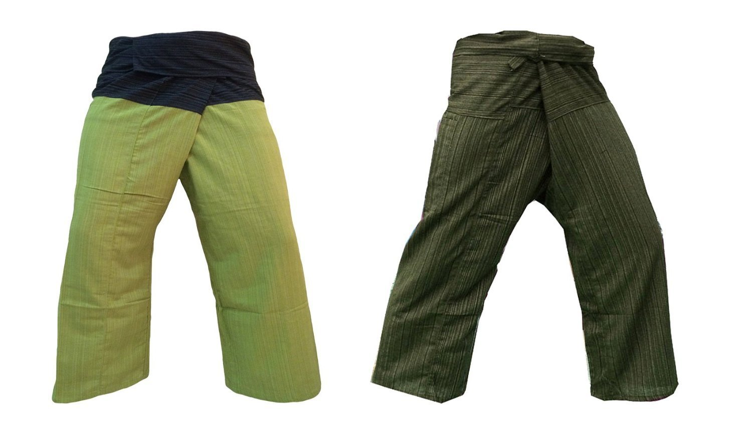b246d893216 Get Quotations · Thai Fisherman Pants Yoga Trousers Free Size Plus Size  Cotton Black Green   Dark Olive