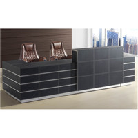 luxury PU leather salon reception desk TH01 high end front desk versave office furniture