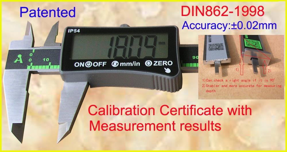 "IP54 Coolant proof digital caliper ""Penta""(five-way) measurement 0-150mm"