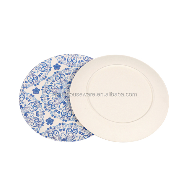 food grade healthy high quality bamboo fiber charger plates wholesale dishes eco friendly dinner plates for  sc 1 st  Alibaba & China Eco Friendly Bamboo Plates Wholesale ?? - Alibaba