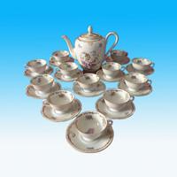 Beautiful and Cheap Royal Vintage 26 Pcs Ceramic Tea Set Porcelain