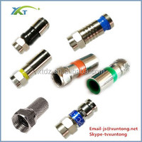 Straight Male Jack Plug TV RF Coaxial Adapter Connector Solder Design