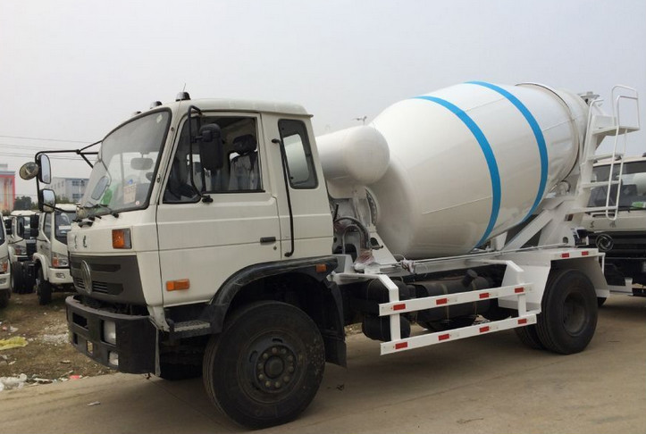 Good condition dongfeng brand 6cbm cement mixer truck dimensions