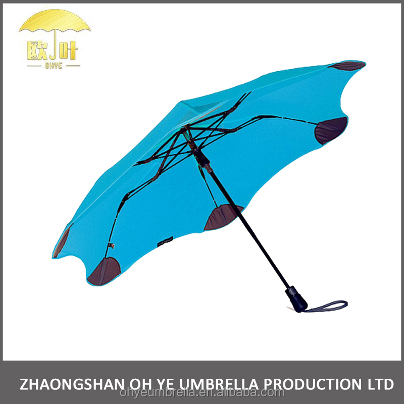 High quality innovative design portable fabric nylon blunt umbrella