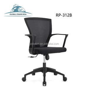 Foshan Furniture Market Chairs Mesh Office Chairs Black Ergonomic Mesh Office Computer Chairs