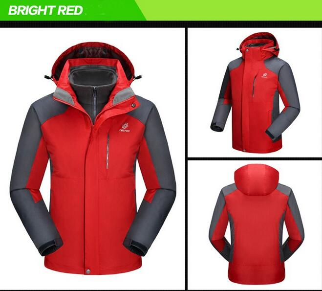 New 2016 Snow 3 in 1 Brand Jacket For Men Sport Mountain Skiing Jackets