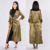 Fashion Duster Coat Long Ankle Length Belt Tie Open Front 3/4 Sleeve Satin Duster