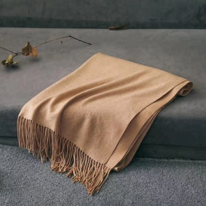 55 Colors! Cashmere Feeling Super Soft with Tassel Solid Color Warm Blanket Scarf for Women
