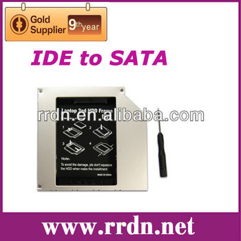 12.7mm IDE to SATA 2nd HDD caddy for universal CD/DVD-ROM Optical Bay