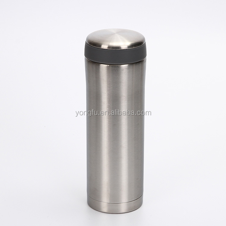 New design doule wall 18/8 stainless steel 350ml bachelor vacuum flask with filter