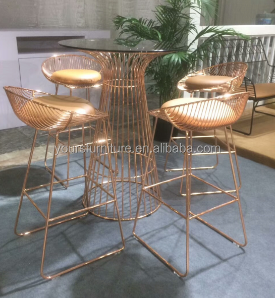 chrome beautiful copper color wire bar chair - buy copper color