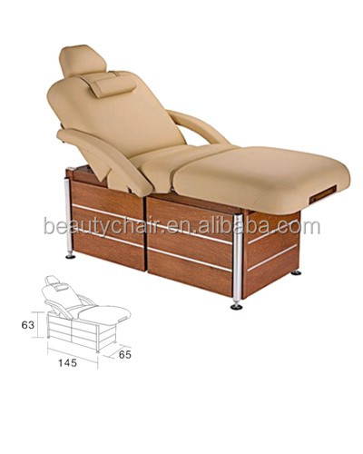 salon wooden base beauty facial bed massage table electrically recline